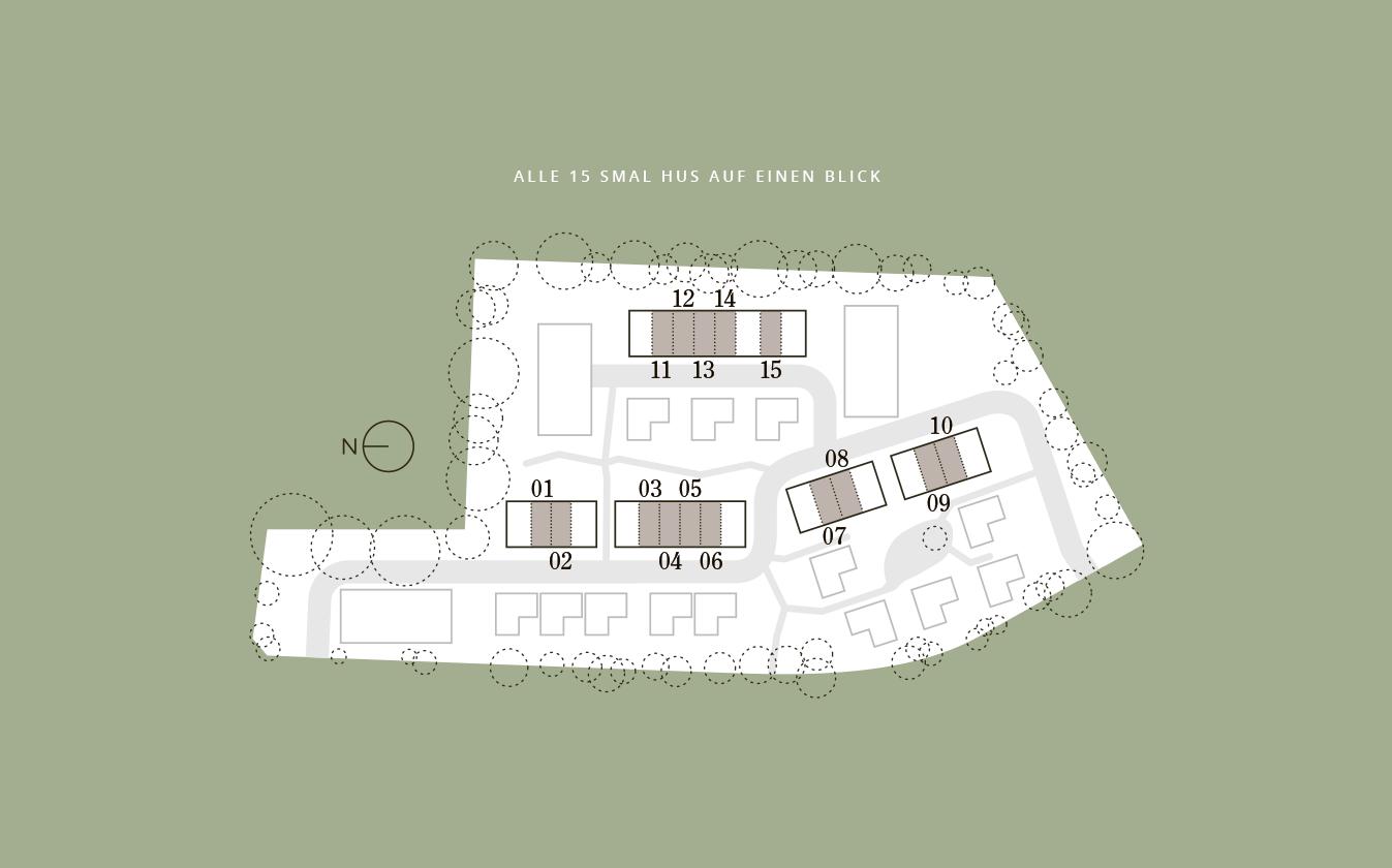 Die Smal Huses in den Riedhöfen in Rissen in Hamburg